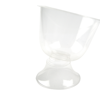 Clear wine 2 piece PLA goblet 6oz (175 ml) - Vegware