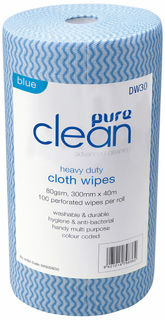 Cleaning Wipes Antibacterial Blue - PureEn