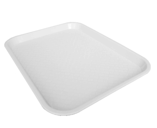 Fast Food Trays Large - White