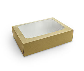 Platter box (small) with insert 31x22.5x8.2cm - Vegware