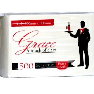 Grace White Serviette 500s - PUREvalue