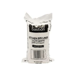 Bastion Kitchen Tidies 27ltr White Medium - UniPak