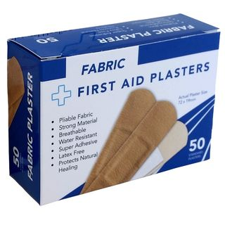 Box of 50's Fabric Plasters, 72x19mm