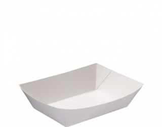 Rediserve' Paper Food Trays #2 Small, White - Castaway