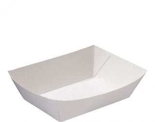 Rediserve' Paper Food Trays #4 Large, White - Castaway
