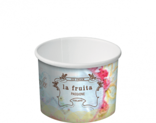 La Fruita Paper Ice Cream / Gelato Cups  1 Scoop 4 oz - Castaway