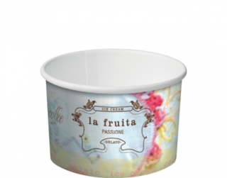 La Fruita Paper Ice Cream / Gelato Cups 2 Scoop 5 oz - Castaway