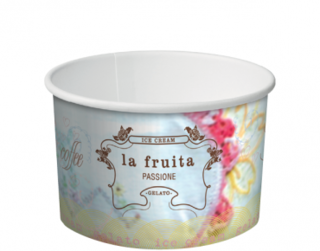 La Fruita Paper Ice Cream / Gelato Cups 3 Scoop 8 oz - Castaway