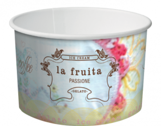 La Fruita Paper Ice Cream / Gelato Cups, Large Take Home Pack 16 oz - Castaway