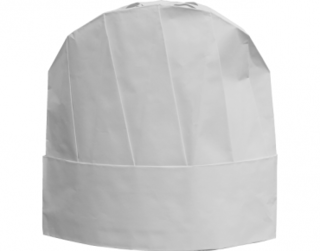 PrimeSource' Disposable Chef's Hat, Size Adjustable, White - Castaway