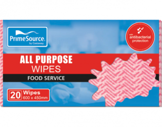 PrimeSource' All Purpose Wipes, Red - Castaway