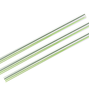 Straws 10mm Green Stripe - Vegware