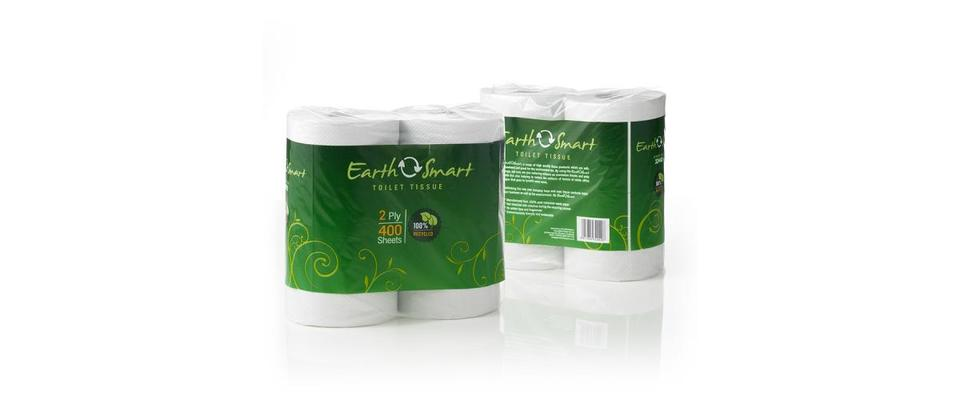 Recycled Toilet Tissue 2 ply 400 sheet - EarthSmart