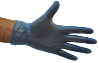 Vinyl Gloves Blue - PF, Large - Selfgard