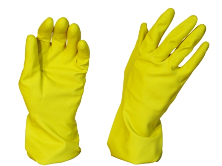 Rubber Gloves Silverline Yellow 2XL - Pomona