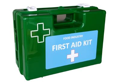 Small Food/Catering First Aid Kit in Wall Mount Box