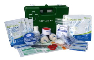 Medium Commercial Burn's First Aid Kit WALL MOUNT PLASTIC BOX