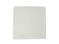 Bag white kraft flat bag 250 x 250mm - Vegware
