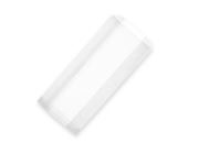 Bag hot white 15 x 25cm with gusset - Vegware