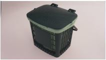 Bin 7.5L Caddy Ventilated with plastic handle (fits 8 Ltr Liner) - Vegware