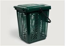 Bin 10L TallAir Caddy Ventilated with plastic handle (fits 10 Ltr Liner) - Vegware