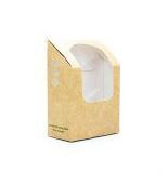 Box window 9 x 5 x 13cm high kraft  - Vegware