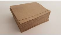 Serviette 1-ply unbleached recycled (fits dispenser) 27 x 21cm folded in 1/4 - Vegware