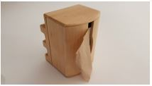 Dispenser timber for Serviette 1-ply 27 x 21cm folded in 1/4 - Free with 18 sleeve purchase - Vegware